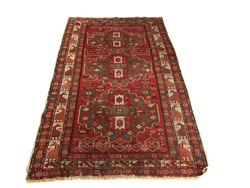 "Caucasian Shirvan antique rug, 6'3"" x 3'9"""