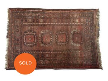 "Turkmen Ersari vintage rug, 5' x 3'4"""