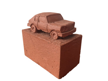 Ceramic Chevette, Made by Keith Simpson, c.2012