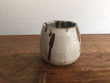 Vintage Studio Pottery, Mottled Coffee Mug