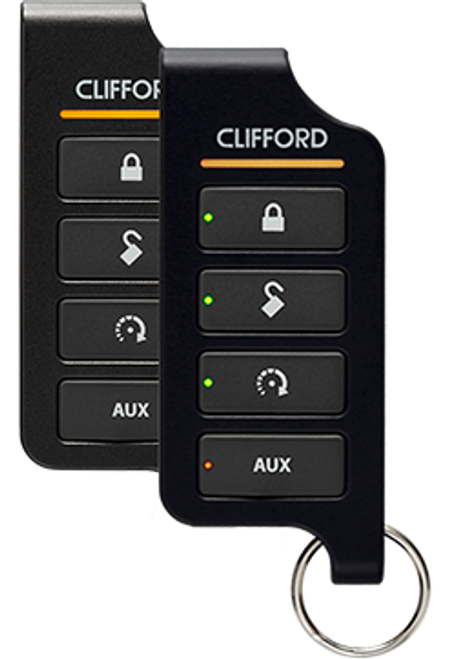 Clifford Car Remote Start Alarm Keyless Entry LED Screen 2 Way System - 4806X