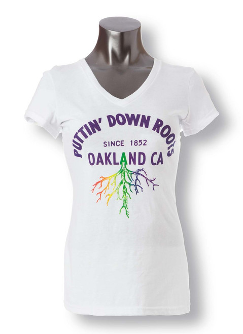 Puttin Down Roots V-neck T-shirt