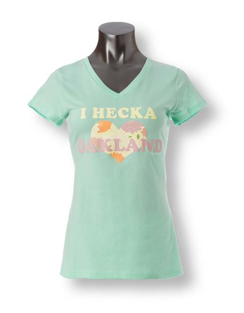 I Hecka Love Oakland Women's V-Neck Tee