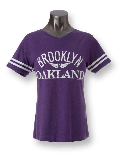 Brooklyn in Oakland Womens Football Tee