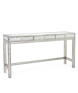 Silver-Eglomise Console Table