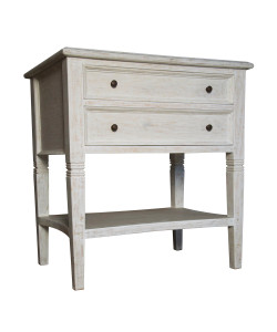 Oxford 2 Drawer Side Table