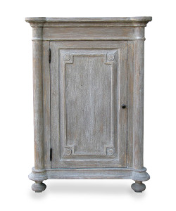 Alexander Right Side Table in Grey Finish