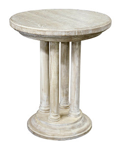 Reclaimed Lumber Montova Side Table in Grey Wash Wax