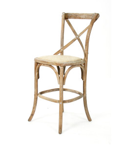 Parisienne Cafe Counter Stool, Limed Grey Oak