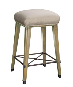 Windsor Bar Stool, Parchment & Oatmeal