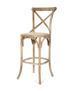 Parisienne Cafe Bar Stool, Limed Grey Oak