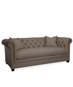 Hanne Chesterfield Sofa, Glynn Linen Earth