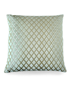 Velvet Diamond Pillow, Blanc