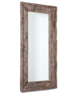 Deer Valley Floor Mirror, Gray Finish