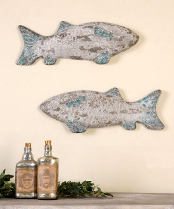 Old Fish Wall Décor, Set of 2