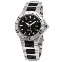 Fendi Nautical Black Dial Stainless Steel/Rubber Quartz Men' s Watch F495110