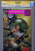 CGC SS 9.8 Aphrodite IX #1 Tower Records Purple Foil Variant, David Finch