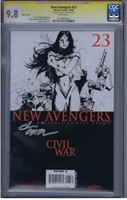 New Avengers #23 Sketch Cover CGC 9.8 SS