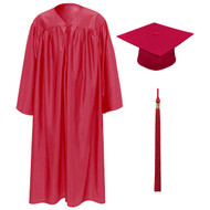 Red Kinder Cap, Gown & Tassel