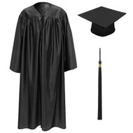 Black Kinder Cap, Gown & Tassel