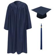 Navy Kinder Cap, Gown & Tassel