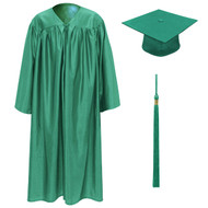 Emerald Kinder Cap, Gown & Tassel