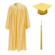 Antique Gold Kinder Cap, Gown & Tassel