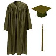 Brown Kinder Cap, Gown & Tassel
