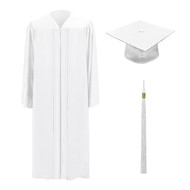 White M2000 Cap, Gown & Tassel