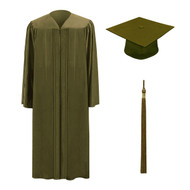 Brown M2000 Cap, Gown & Tassel