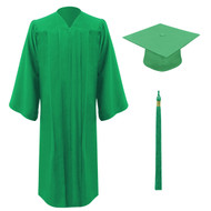 Green Freedom Cap, Gown & Tassel