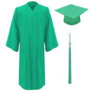 Emerald Freedom Cap, Gown & Tassel