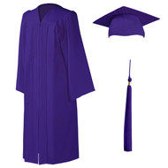 U-Purple Cap, Gown & Tassel