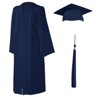 U-Dark Navy Cap, Gown & Tassel