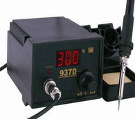 Soldering Iron Station with extra heating element &5 tips 937D