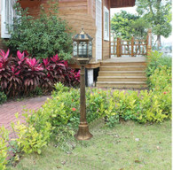 4 foot outdoor solar powered lamp post with LED Lights SL-6801bronze1.3m
