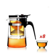 Kendal 16 oz Tea Maker Teapot with 8 tea cups CJ-500