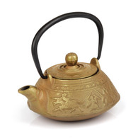 Japanese Cast Iron Tea Pot Golden Color (17 oz 500ZGC)