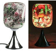 Electric Mosaic Oil Wax Warmer Fragrance Lamp with Dimmer (3-Red-green)