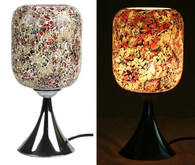 Electric Mosaic Oil Wax Warmer Fragrance Lamp with Dimmer (4-Gold-red)