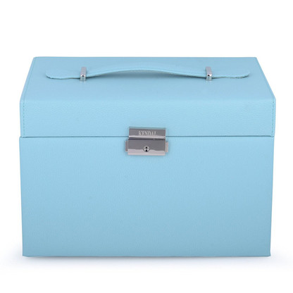 Kendal Large Leather Jewelry Box Case Storage Organizer With