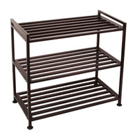 3-Tier Iron Utility Shoe Rack 9 Pairs Shoe Tower Storage Organizer SR03T