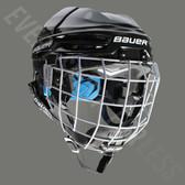 Bauer Prodigy Youth W/ Cage Ice Hockey Helmet Combo - Black