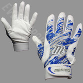 Marucci Quest Senior Batting Gloves - White and Royal