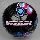 Vizari Retro Hearts Black/Pink/Blue Soccer Ball