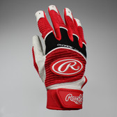 Rawlings Workhorse Youth Batting Glove - Scarlet