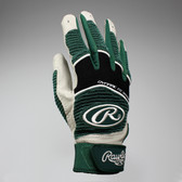 Rawlings Workhorse Youth Batting Glove - Dark Green