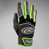 Rawlings Workhorse Youth Batting Glove - Neon Green