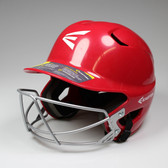 Easton Z5 Senior Batting Helmet with Mask - Red