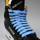 Elite Pro X7 Molded Tip Wide Hockey Laces - Columbia / Navy